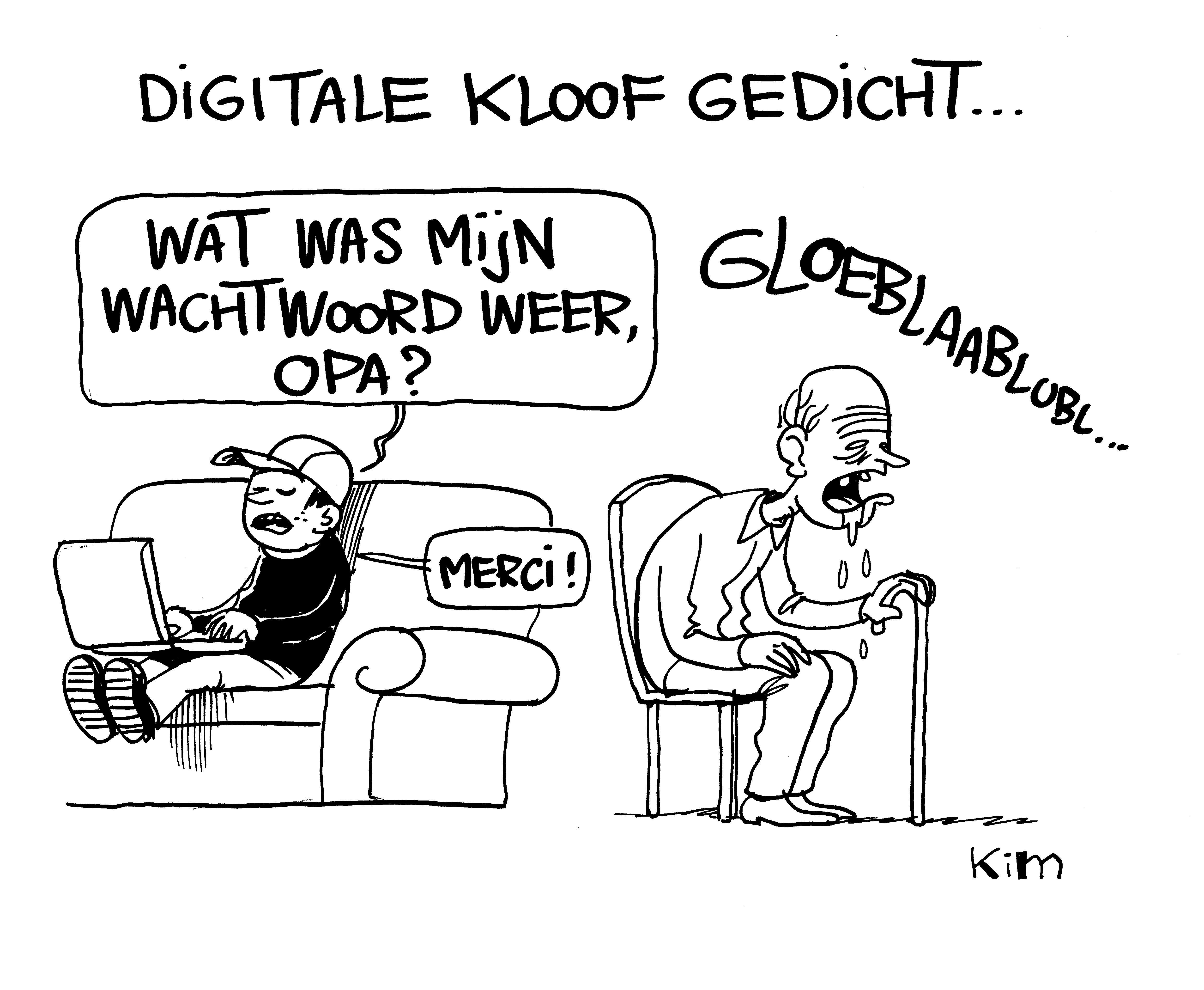 Digitale kloof gedicht...