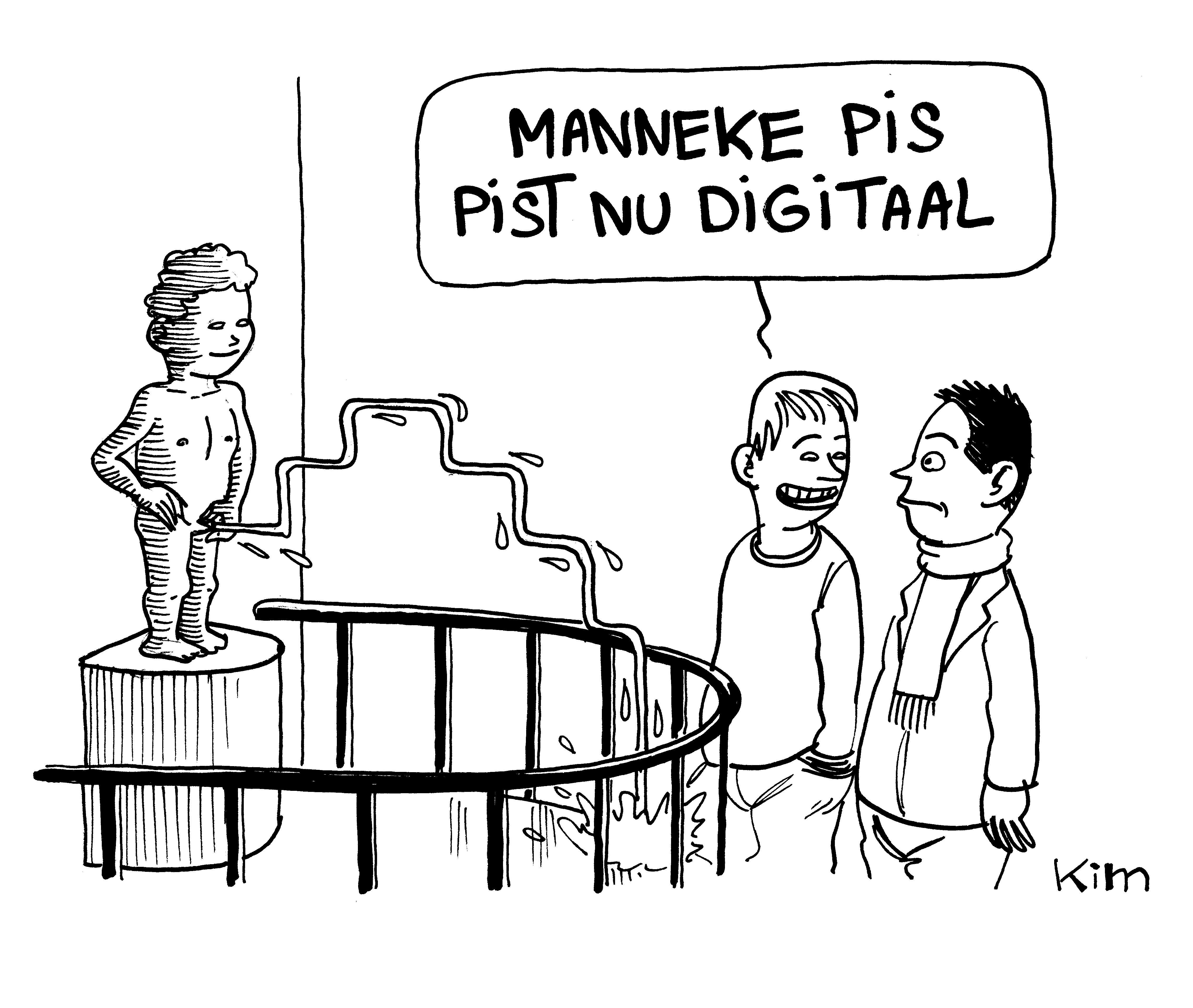 Manneke Pis pist nu digitaal